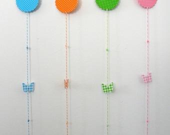 "2D Colored Paper Wreaths ""Springtime's back !"""