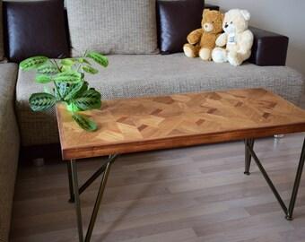 IN STOCK! Coffee table, Reclaimed wood coffee table, Rustic wood coffee table, Modern coffee table, Wooden coffee table, Brushed oak