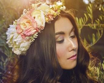 Cute romantic flower hair wreath