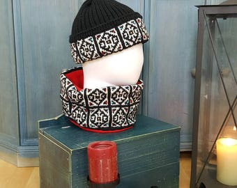 Winter Stocking Cap Cold Weather Hat Cold Weather Headwear Fairtrade Knit Headgear Fair Trade Hats Jacquard Hat Skiing Hat Snowboarding Hats