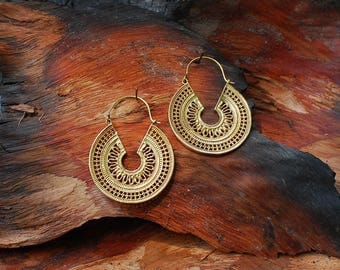 Farao Roundies - brass ear jewelry, earrings
