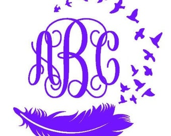 Bird and Feather Decal