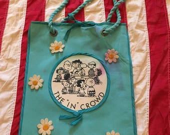 The Peanuts Gang Vintage Purse Bag The In Crowd AS IS Charlie Brown Snoopy 60s 70s
