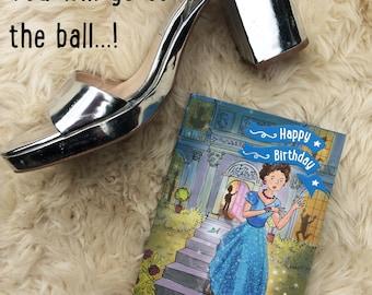 Cinderella Birthday card