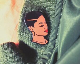 Custom enamel pin - hat pins - jacket pins - enamel pin - black girl magic - custom lapel pin - lapel pin - black girl pin - short hair