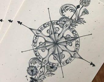 Compass Rose Print
