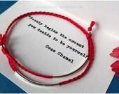 Tube Charms Bracelet. Sterling Silver Charm. Friendship Bracelet.