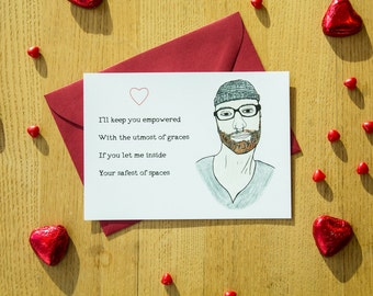 Social Justice, Valentine's Day Card, For Her, Hipster, SJW, Funny, Politics, Safe Spaces
