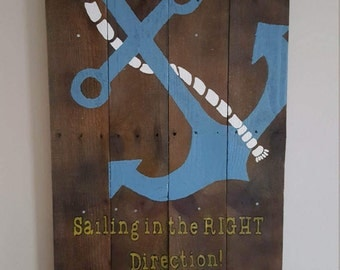 Anchor Sign, Sailing in the Right Direction