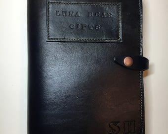 Handmade Leather Organiser and Notebook