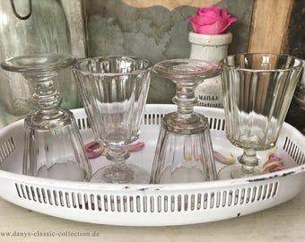 large old jar storage glass vintage pressglas patina rusty lid shabby decoration brocante