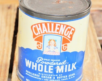 Box advertising Tin Challenge Whole milk U.S.A. vintage
