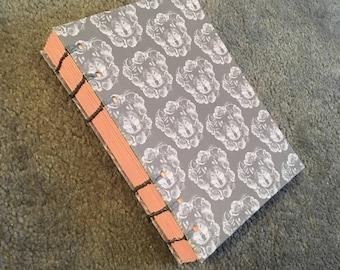 A5 Wolf Design Hand Bound Notebook