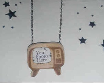 TV Picture Frame Necklace