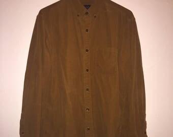 Vintage J Crew Gold Corduroy Shirt