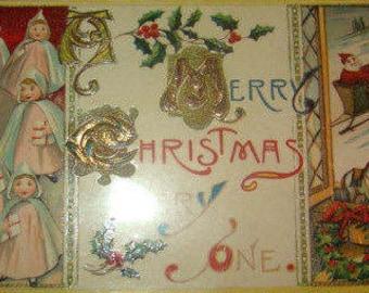 SALE Vintage Christmas Postcard