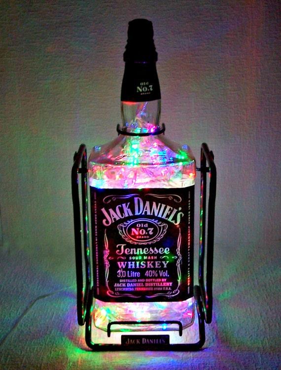 jack daniel 39 s verlicht fles handgemaakte fles lamp 3. Black Bedroom Furniture Sets. Home Design Ideas