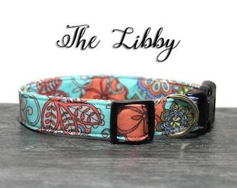 Bright Colorful Floral Dog Collar, Flower Dog Collar, Feminine Dog Collar, Collar for girl dog, Cute Dog Collar, Custom Collar for Dogs