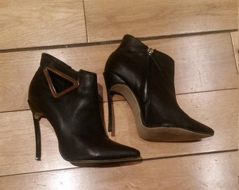 Ankle boots black 38 uk5 high heels