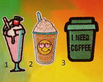Beverage Patches Iron On Patches