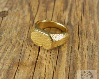 Rustic Ring, Scratch Ring, Textured Ring, Hipster Jewelry, Mens Signet Ring, Rustic Band, Hammered Ring, Solid Ring, Mans Rings,Gift for Him