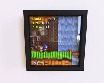 Sonic The Hedgehog 2 3D Shadow Frame