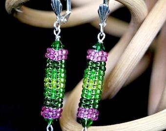Neon Rainbow - handmade earrings