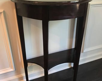 Half Round Console Table W/ Hidden Drawer | Atlanta