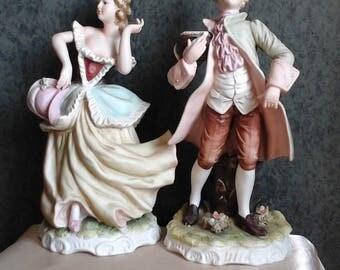 Lefton China Figurines Brian and Gwendolyn