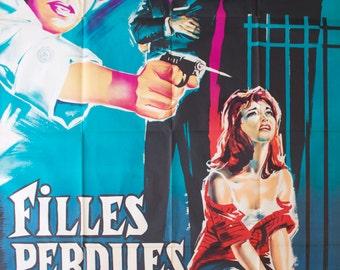 "Movie poster ""Filles Perdues"" - Original"