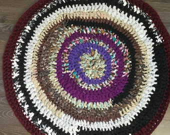 Recycled Crochet Rug