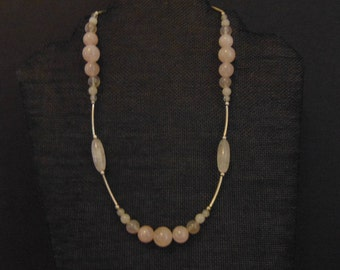Necklace, Rose Quartz