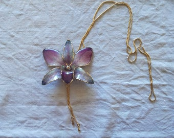 Real Orchid Pendant Pink