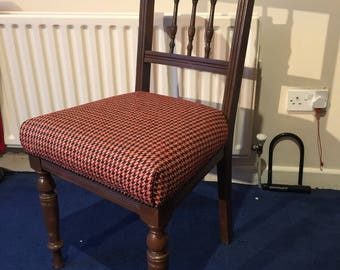Antique dining chair from the early 1900's reconditioned.