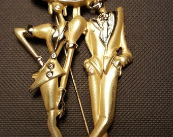 Vintage woman and man fashion pin