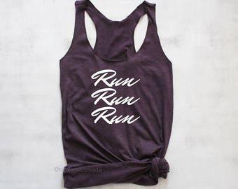 Running tank top, exercise tank top, running summer tank top, running racerback tank top shirt