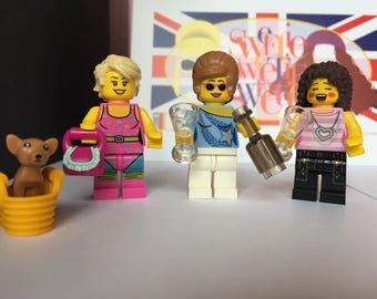 Absolutely Fabulous TV show LEGO characters. Eddy, Patsy & Bubble set.