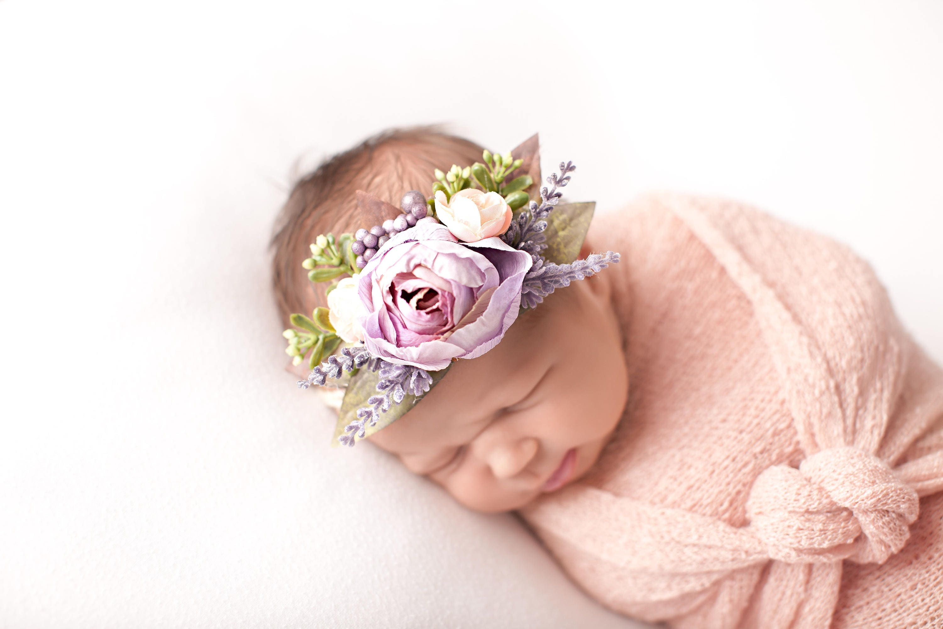 Purple Flower Headband Purple Baby Headband Purple Headband