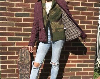 Violet Mauve Quilted Jacket