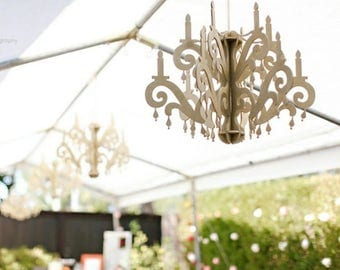 Chandelier - birthday party decor hanging gold faux chandelier