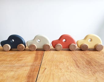 Wooden car, classic looking kids toy