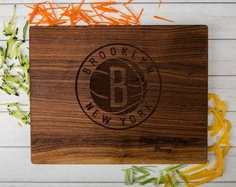 Brooklyn Nets Cutting Board,Wooden Engrave Cutting,Wood Board Art,Wedding Party Gift,Monogram Table Number,Couple Cutting Board,Groom Gift,