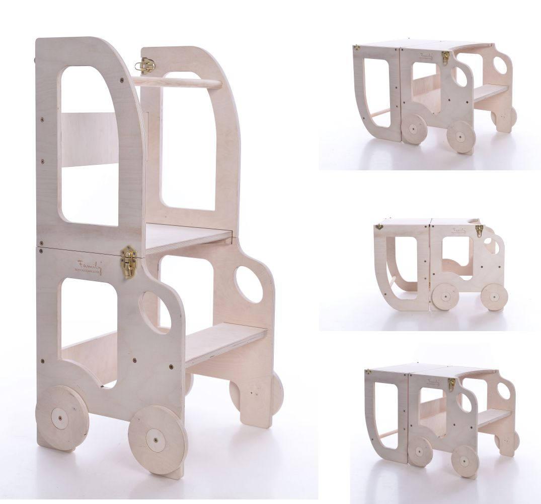 Aide de cuisine montessori tape tabouret pour enfants de for Chaise montessori