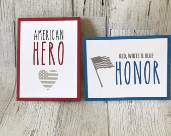 Support Our Troops Card | Memorial Day Card | Veteran's Day Card
