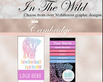 In The Wild Business Cards - Home Office Approved Fonts and Colors Business Card, Digital