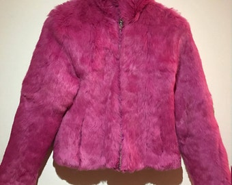 Vintage Hot Pink Fur Coat