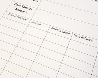 Budgeting Weekly Savings Tracker for beginners