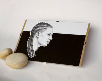 Custom portrait digital drawing