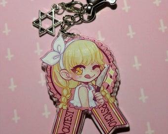 World's Cutest Psycho! Menhera Yamikawaii Creepy Cute Keychain