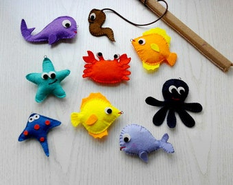 Magnetic fishing Felt fishing Fishing game Felt fishing game Game for children Gift for children Gift for kids Gift for toddlers